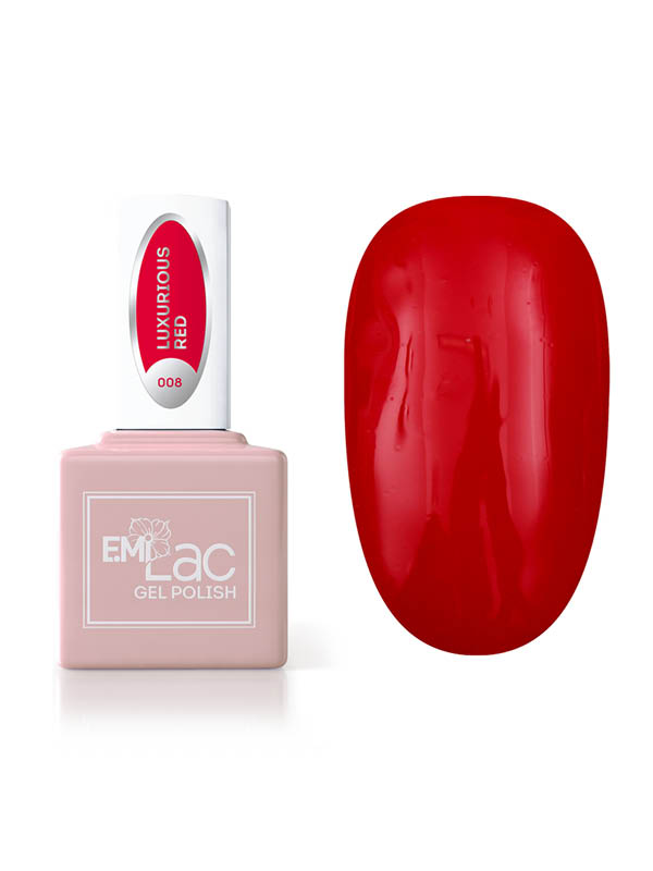 E.MiLac Luxurious Red #008, 9 ml.