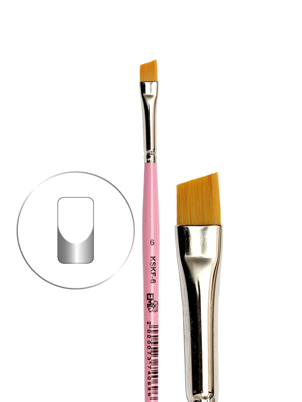 Beveled Square Brush #6 for French Manicure