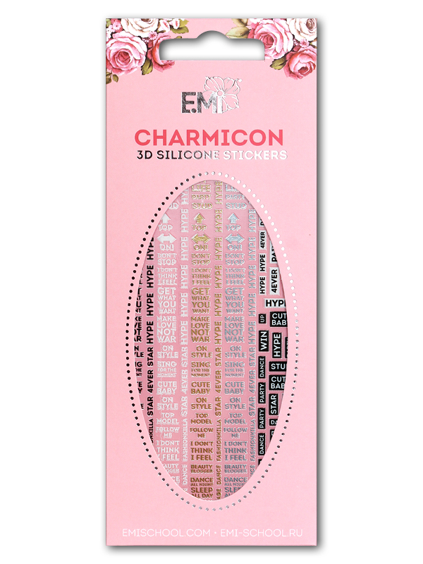 Charmicon 3D Silicone Stickers #62 Words
