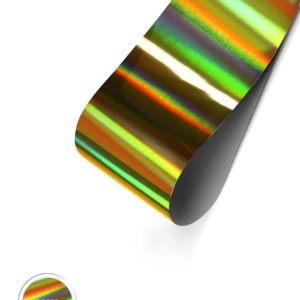 Holographic Foil- Gold Transverse Stripes
