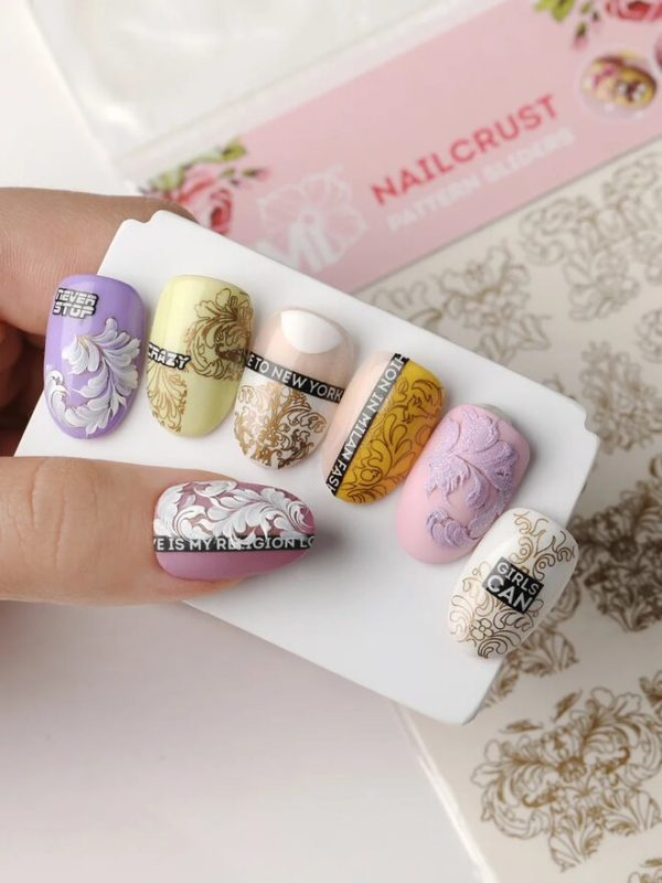 Nailcrust Pattern Slider Gold #4