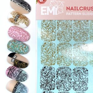 Nailcrust Pattern Slider Gold/Beige/White/Black #23