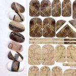 Naildress Slider Design #19 Brown marble