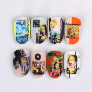 Naildress Slider Design #56 Portrait Painting