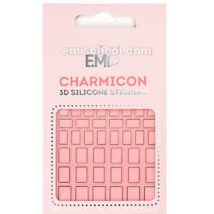 Charmicon 3D Silicone Stickers #111 Squares, Gold