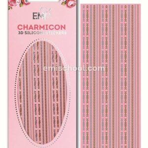 Charmicon 3D Silicone Stickers Chain #4, Gold/Silver
