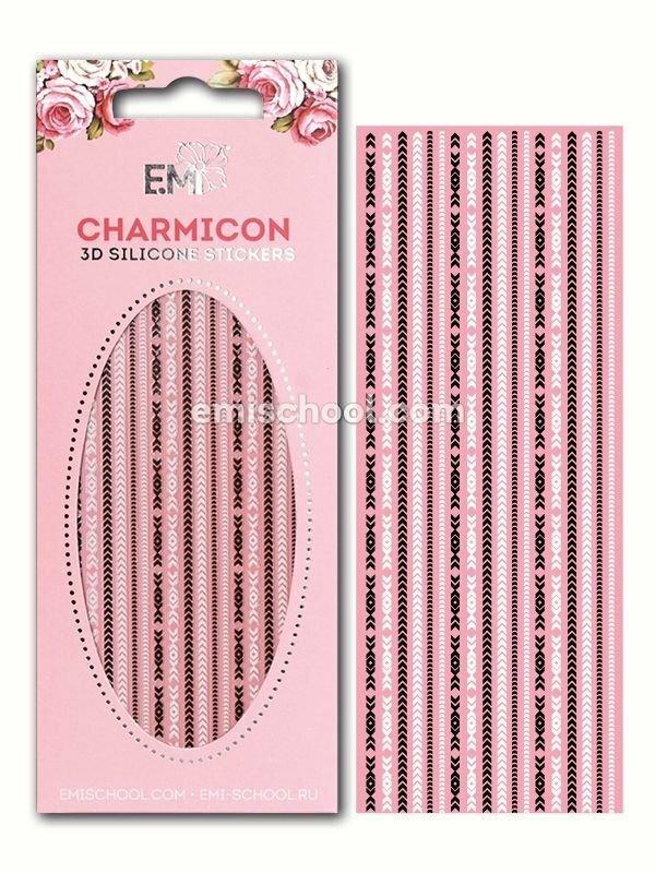 Charmicon 3D Silicone Stickers Chain #5, Black/White