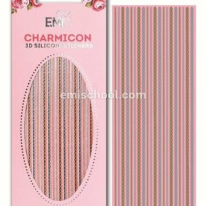 Charmicon 3D Silicone Stickers Chain #8, Gold/Silver