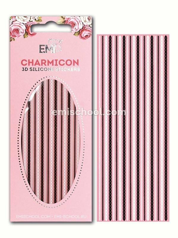 Charmicon 3D Silicone Stickers #9 Chain, Black/White