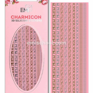Charmicon 3D Silicone Stickers #3 Jewelry, Gold/Silver
