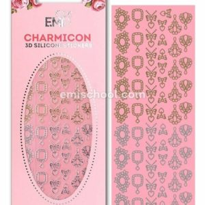 Charmicon 3D Silicone Stickers #4 Jewelry, Gold/Silver