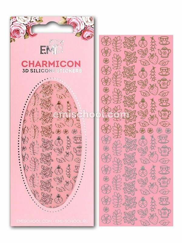 Charmicon 3D Silicone Stickers #5 Jewelry, Gold/Silver