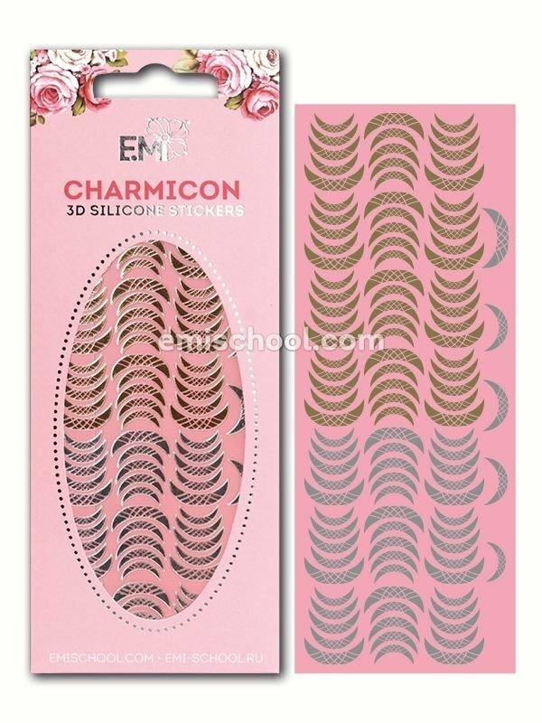 Charmicon 3D Silicone Stickers Lunula #13, Gold/Silver