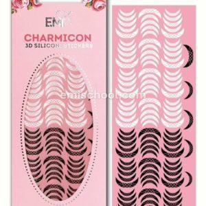 Charmicon 3D Silicone Stickers Lunula #14, Black/White