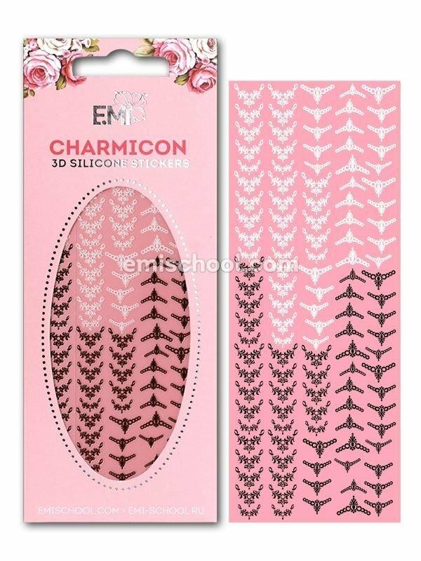 Charmicon 3D Silicone Stickers Lunula #18 Black/White