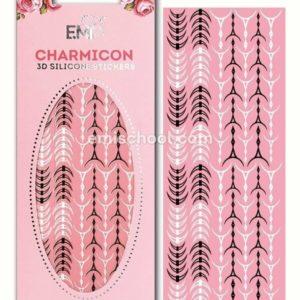 Charmicon 3D Silicone Stickers Lunula #34, Black/White