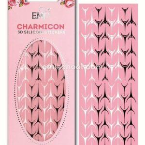 Charmicon 3D Silicone Stickers Lunula #36, Black/White