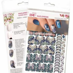 Naildress Slider Design Japanese Chrysanthemum