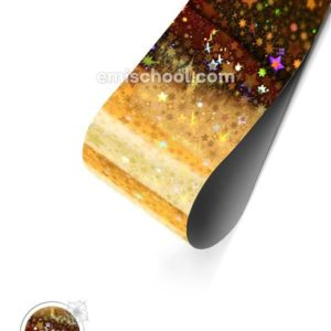 Holographic Foil- Gold Stars, 1.5 meters