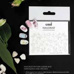 Nailcrust Slider Design #58 Narcissuses and Orchids