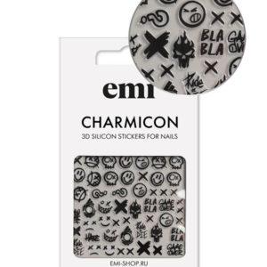 Charmicon 3D Silicone Stickers #181 Smile