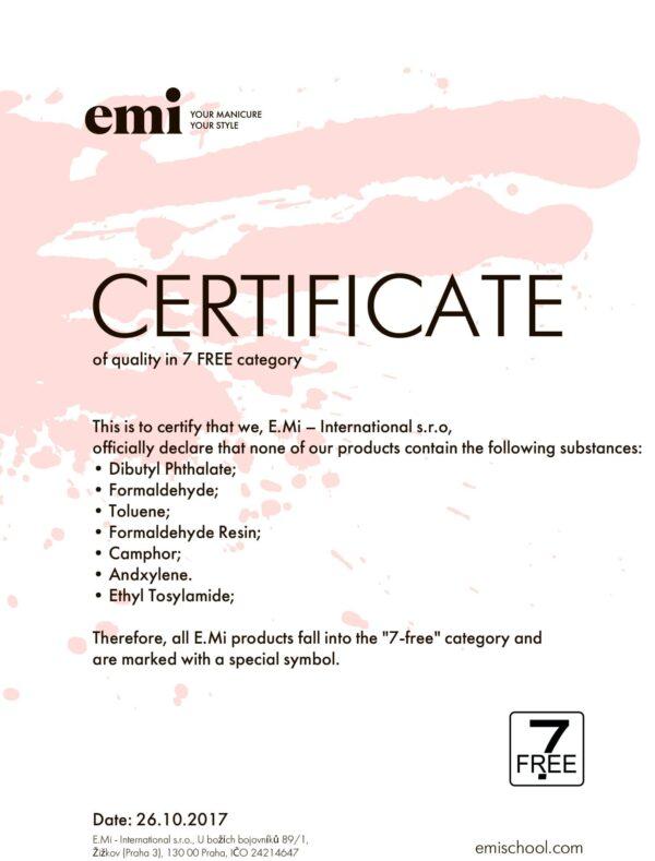 7-Free Certificate