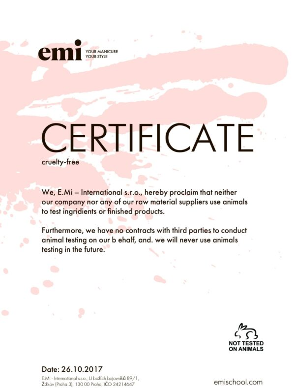 Cruelty-free Certificate