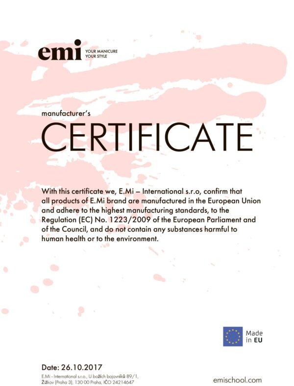 Product of EU Certificate
