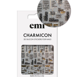 Charmicon 3D Silicone Stickers #195 Art is Life